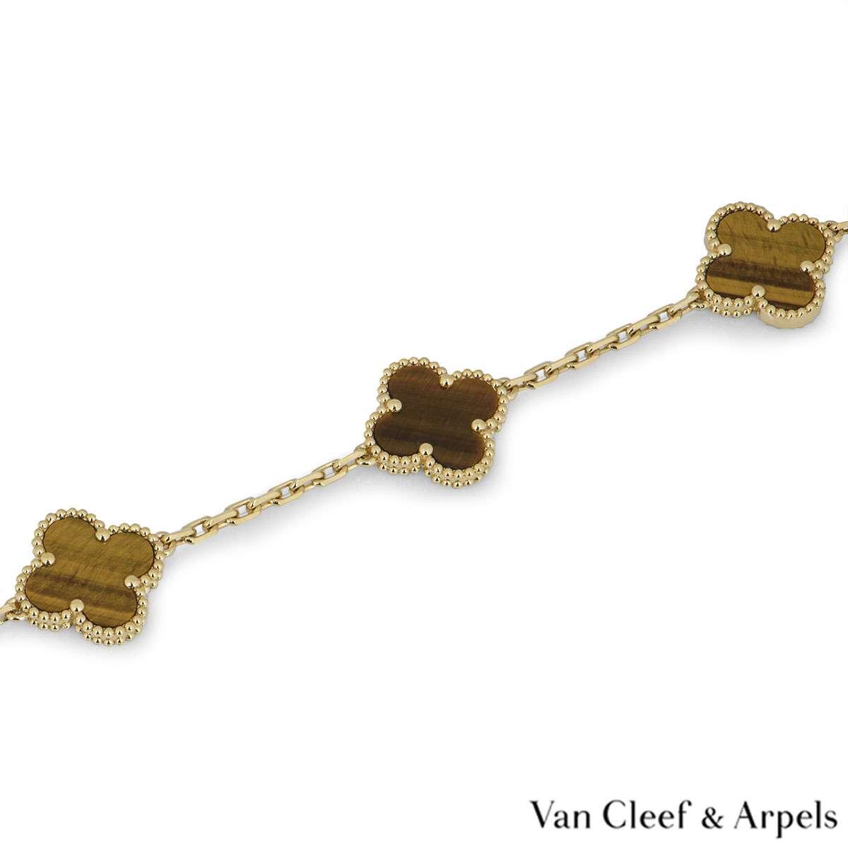 Van Cleef and Arpels Tigers Eye Vintage Alhambra Bracelet VCARD35600